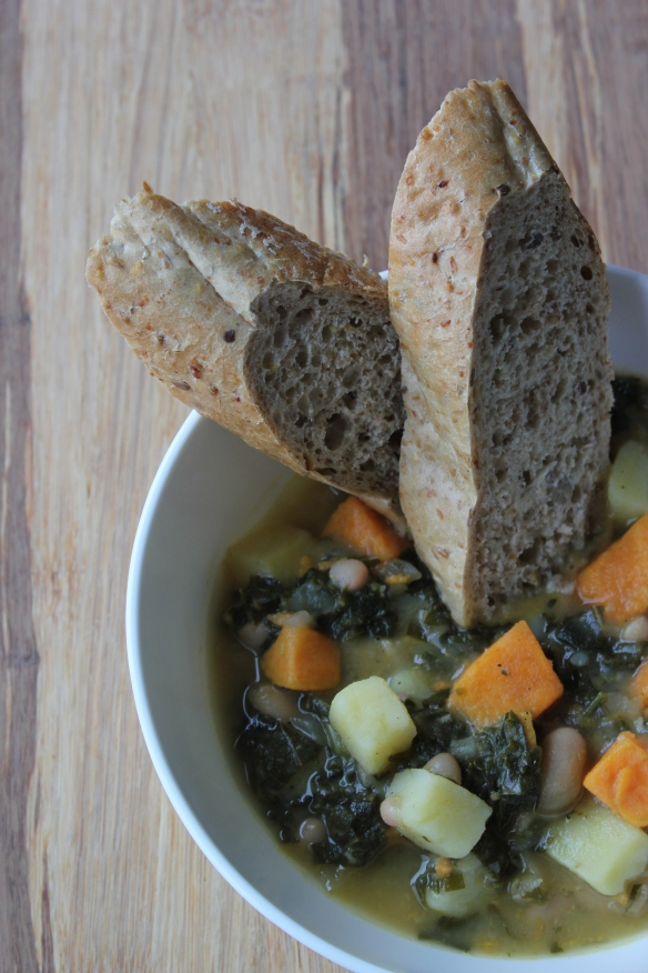 Kale and bean soup 3